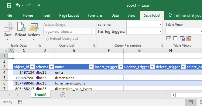 Connected Table in Excel