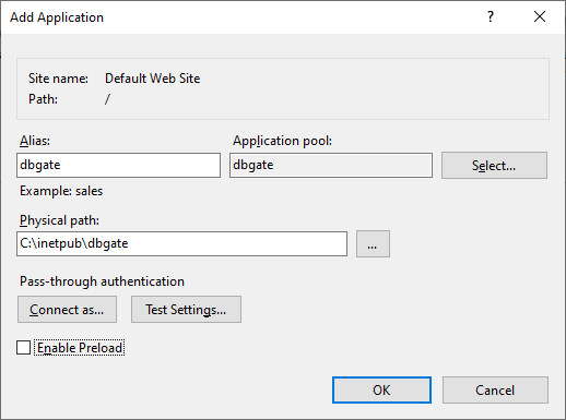 DBGate Installation on Windows - Creating Application