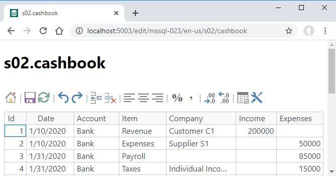 DBGate s02.cashbook