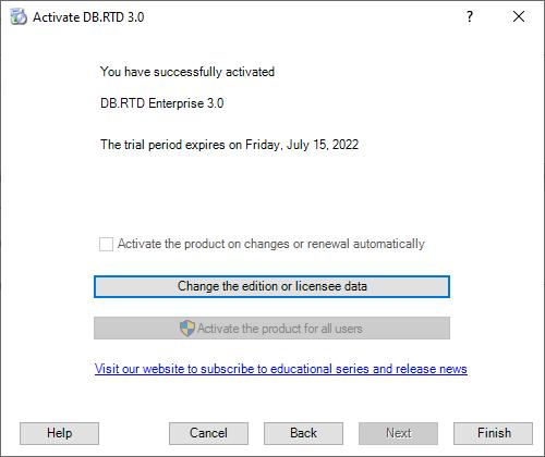 DB.RTD Registration - The final step