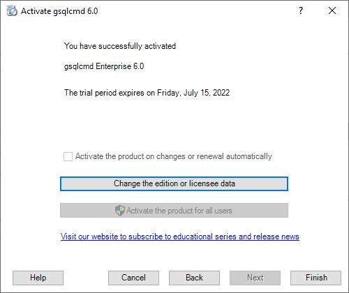 gsqlcmd Registration - The final step