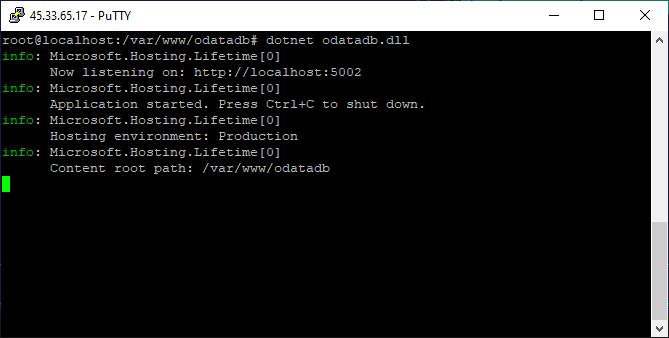 ODataDB Console on Linux