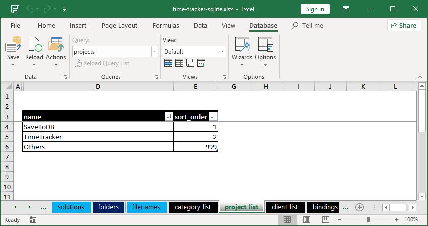 Gartle Time Tracker - Project List
