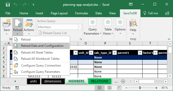 Reloading Data and Configuration