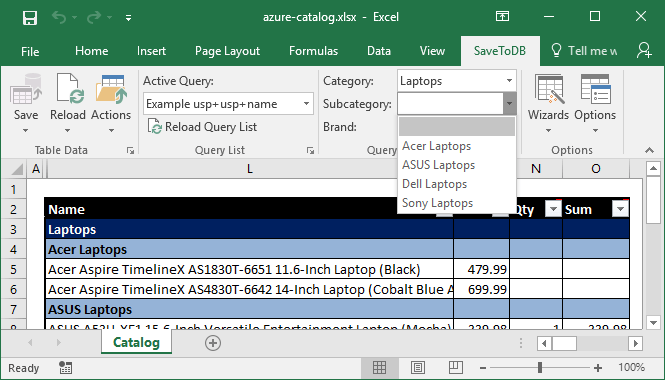 Use Excel as Client Platform