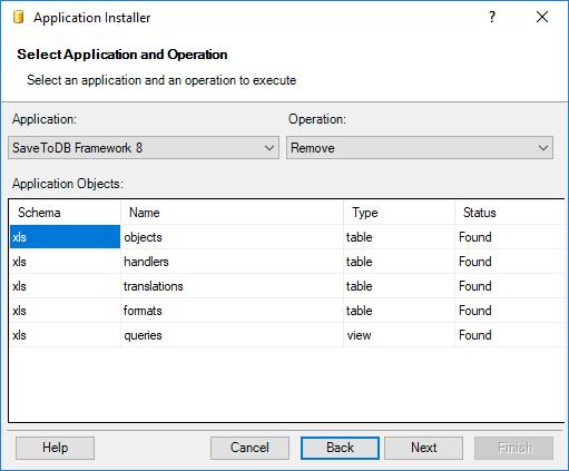 Installing SaveToDB Framework - Checking Objects