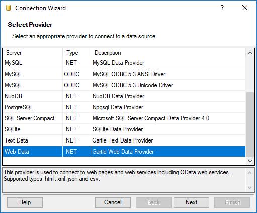 Web Data Provider